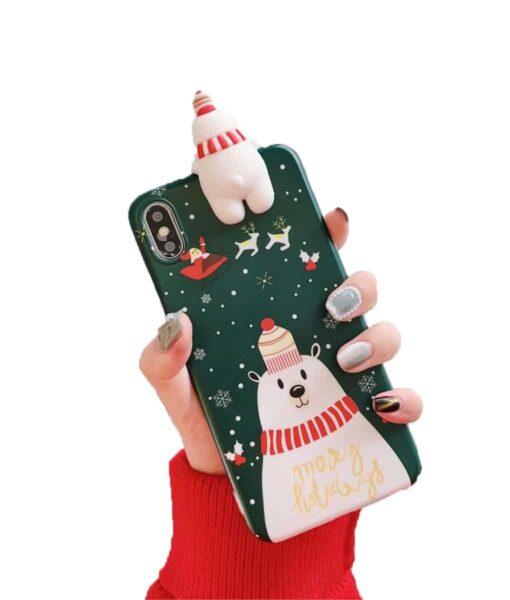 christmas phone case, Christmas Snowman Phone Case
