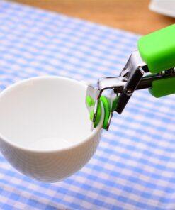 Hot Pan Holder, Hot Plate Tong Bowl Pan Clamp Dish Gripper Clamp Holder (Random Color)