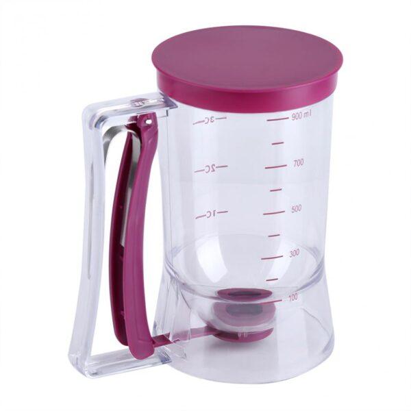 Manual Cupcake Pancake Cookie Cake Waffles Pastry Batter Dispenser Speratator Measuring Cup Baking Tools 900ml 1