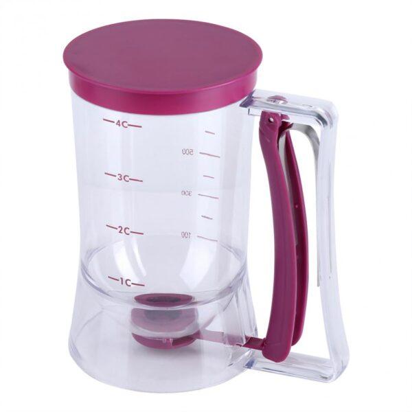 Manual Cupcake Pancake Cookie Cake Waffles Pastry Batter Dispenser Speratator Measuring Cup Baking Tools 900ml 2