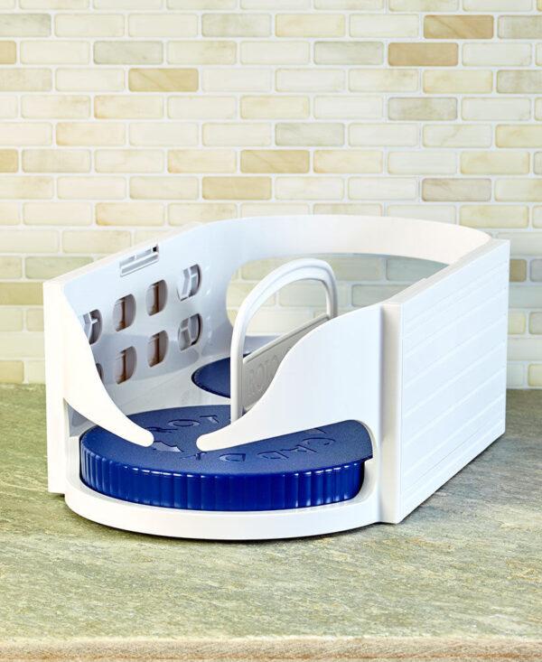 Multi functional Double Roller Rotating Storage Box Bathroom Rack Roto Caddy Swivel Organizer Kitchen Racks Accessories 1