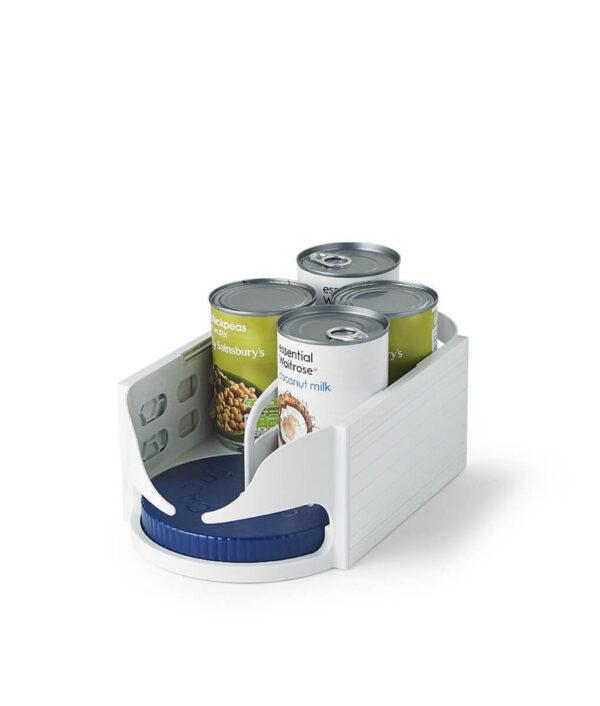 Multi functional Double Roller Rotating Storage Box Bathroom Rack Roto Caddy Swivel Organizer Kitchen Racks Accessories 2 1