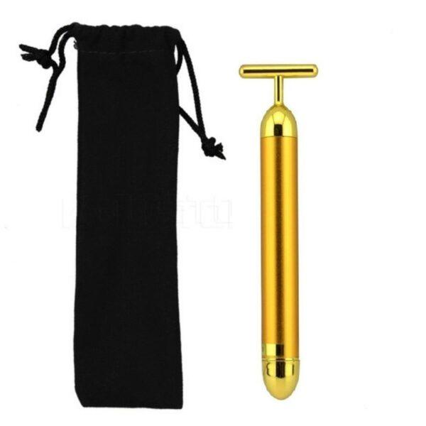 New Technology 24K Beauty Bar Golden Energy Face Massager Beauty Care Vibration Facial Massager 1PC Slimming 2