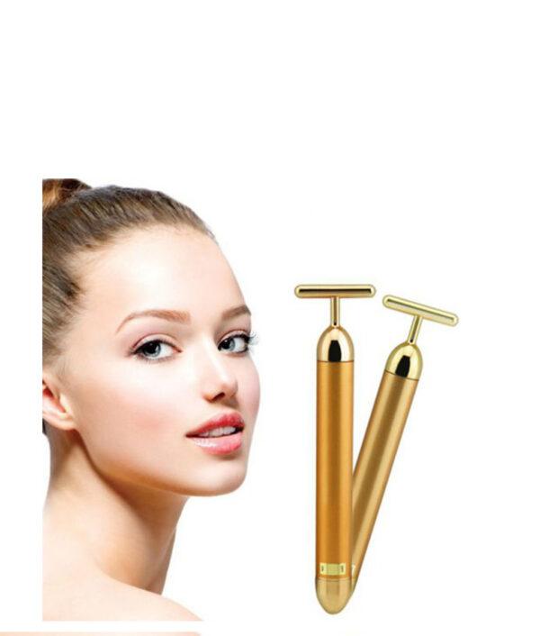 New Technology 24K Beauty Bar Golden Energy Face Massager Beauty Care Vibration Facial Massager 1PC Slimming 510x510 1