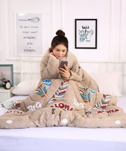 Winter Lazy Quilt With Sleeves, Winter Lazy Quilt With Sleeves