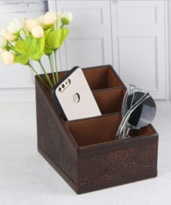 Leather Remote Control Phone Organizer, Leather Remote Control Phone Organizer