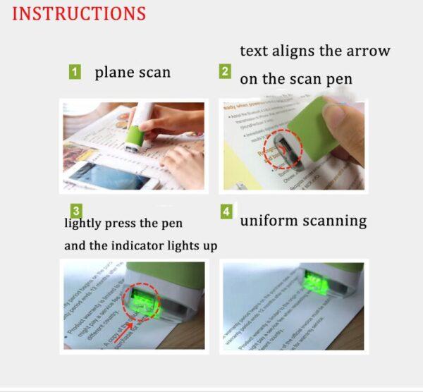 Scan Marker Pen Intelligent Automatic Scanning Pen Scan Marker Text Recognition Pen Scanner 3