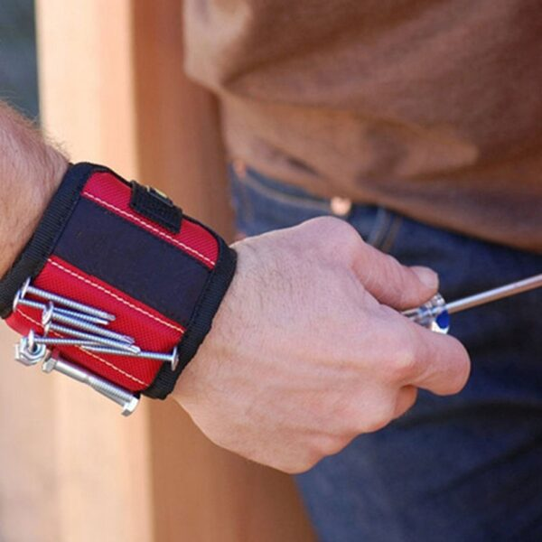 Strong Magnetic Wristband Bracelet Portable Tool Bag For Holding Screws Nails Drill Bits Tool Wrist Belt