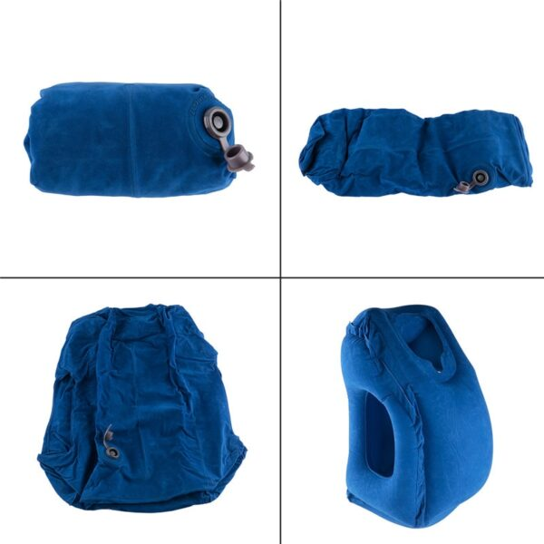 Travel pillow Inflatable pillows air soft cushion trip portable innovative products body back support Foldable blow 4