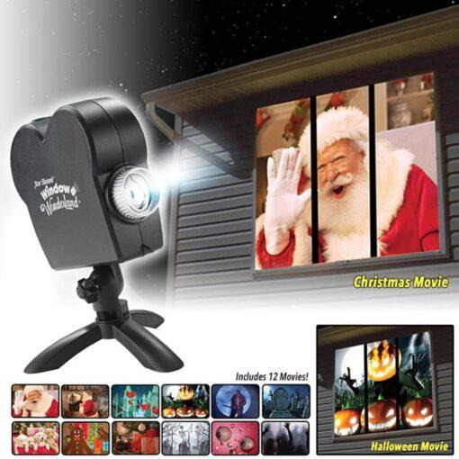 Christmas Window Projector, Mini Christmas Window Projector