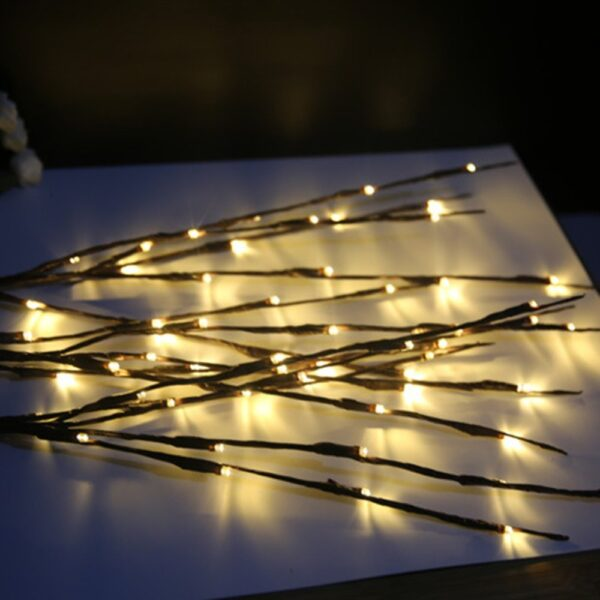 20 LED Branch Lights Fairy Decorative Night Light Willow Twig Lighted Branch Lamp Luminous Home Room 2