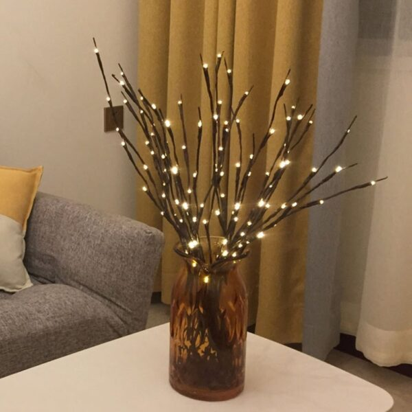 20 LED Branch Lights Fairy Decorative Night Light Willow Twig Lighted Branch Lamp Luminous Home Room 4