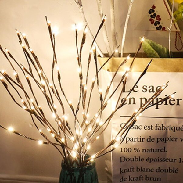 20 LED Branch Lights Fairy Decorative Night Light Willow Twig Lighted Branch Lamp Luminous Home Room