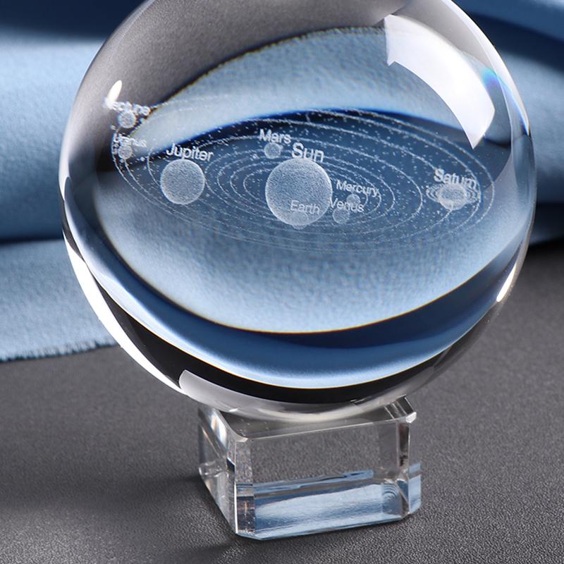 3D Solar System Crystal Ball 3D Solar System Crystal Ball