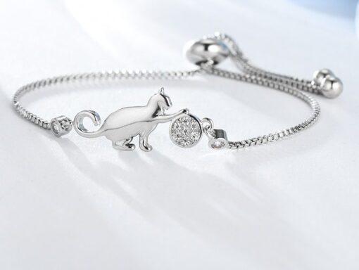 bracelet, Cute Cat Adjustable Charm Bracelet