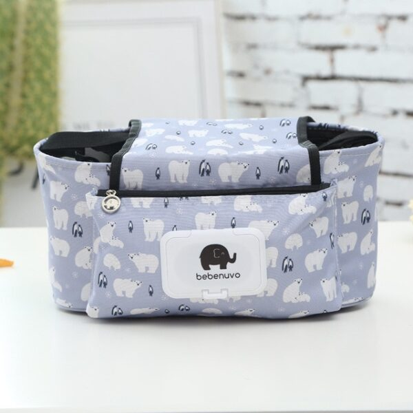 Baby Stroller Organizer Bag Mummy Diaper Bag Hook Baby Carriage Hanging Storage Bag Cartoon Folding Elephant 2.jpg 640x640 2