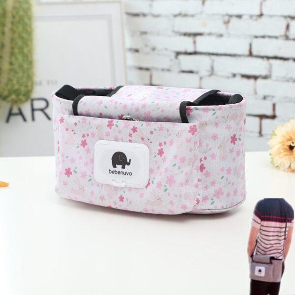 Baby Stroller Organizer Bag Mummy Diaper Bag Hook Baby Carriage Hanging Storage Bag Cartoon Folding Elephant 4.jpg 640x640 4