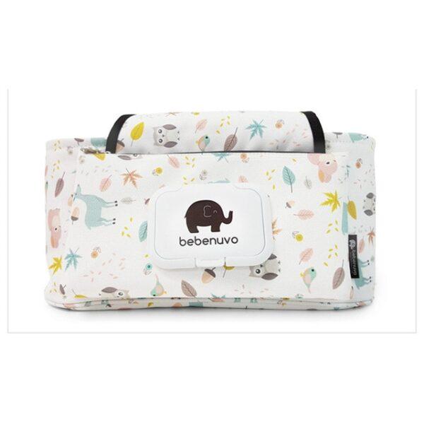 Baby Stroller Organizer Bag Mummy Diaper Bag Hook Baby Carriage Hanging Storage Bag Cartoon Folding