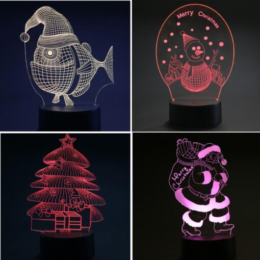 kids night lights, Christmas LED 3D night lights