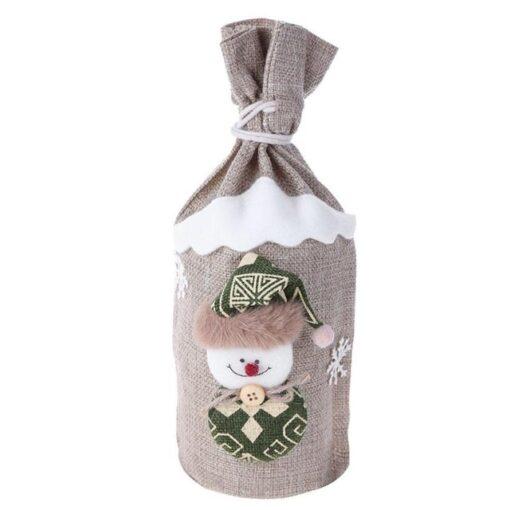 Christmas Wine Bottle Cover Bag, Christmas Wine Bottle Cover Bag