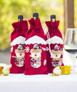 Christmas Wine Bottle Cover Bag
