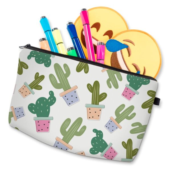 Deanfun 3D Printing Cactus Cosmetic Bags Cute Necessaries for Girls Makeup Travelling Dropshipping 35509 4 1