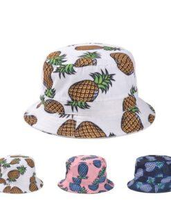 Pineapple Printed Bucket Hats