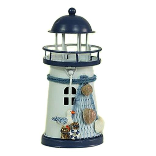 Lighthouse, Mediterranean Tower Lighthouse Candlestick