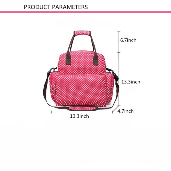 Large Diaper Bag Multi Function Nappy Bag with Nappy Changing Pad for Baby Waterproof Durable Stylish 4