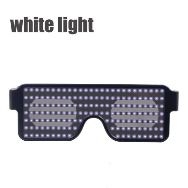 New 8 Modes Quick Flash Led Party Glasses USB charge Luminous Glasses Christmas Concert light Toys 1.jpg 640x640 1