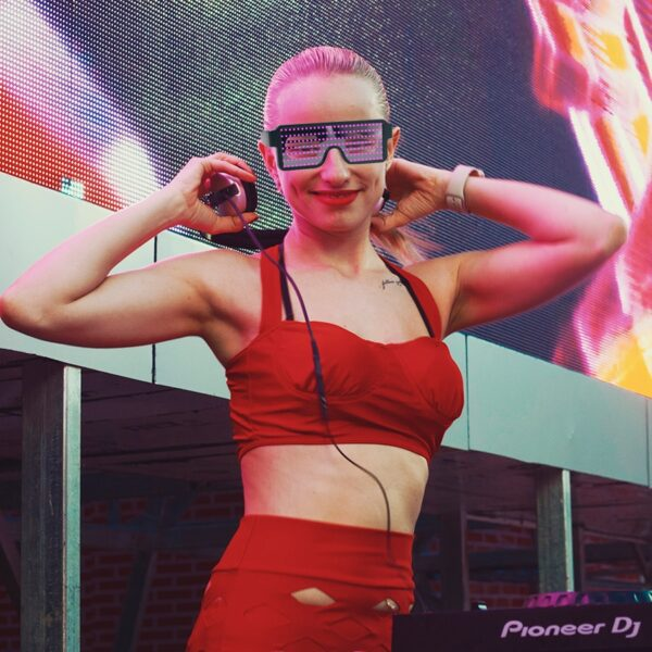 New 8 Modes Quick Flash Led Party Glasses USB charge Luminous Glasses Christmas Concert light Toys 2