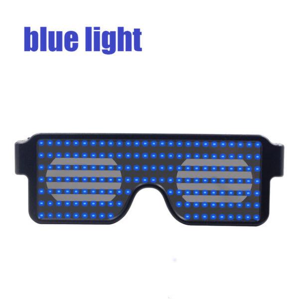 New 8 Modes Quick Flash Led Party Glasses USB charge Luminous Glasses Christmas Concert light Toys 2.jpg 640x640 2