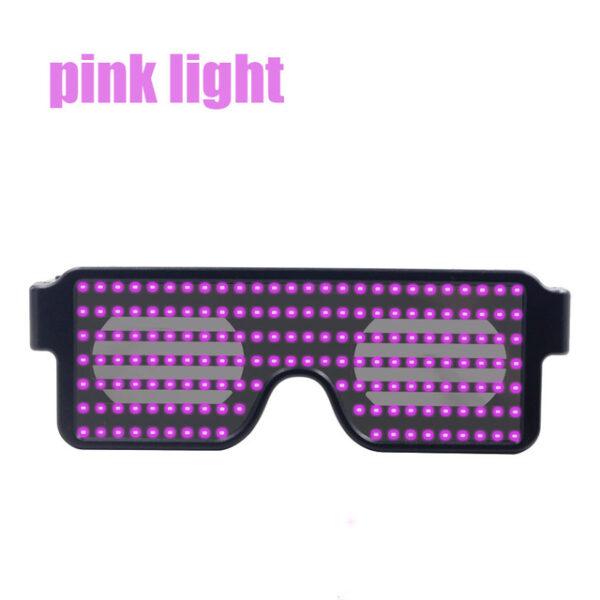 New 8 Modes Quick Flash Led Party Glasses USB charge Luminous Glasses Christmas Concert light Toys 4.jpg 640x640 4