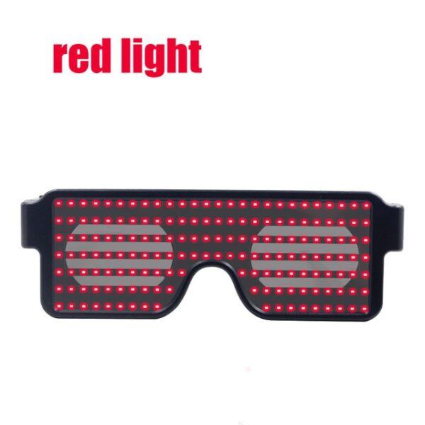 New 8 Modes Quick Flash Led Party Glasses USB charge Luminous Glasses Christmas Concert light