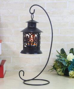 Candlestick, Iron Candlestick Glass Ball Lantern Hanging Stand