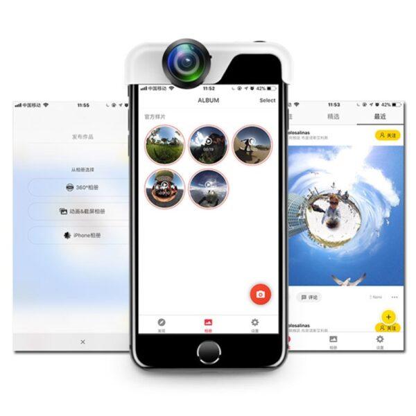 Original 360 Panoramic Camera Lens 2PCS Phone Lens For iPhone 7 X 6 6s Plus 8 2