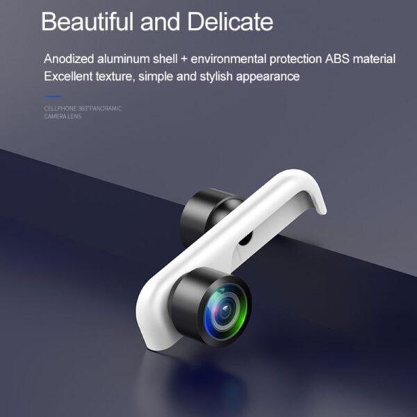 Original 360 Panoramic Camera Lens 2PCS Phone Lens For iPhone 7 X 6 6s Plus 8 3