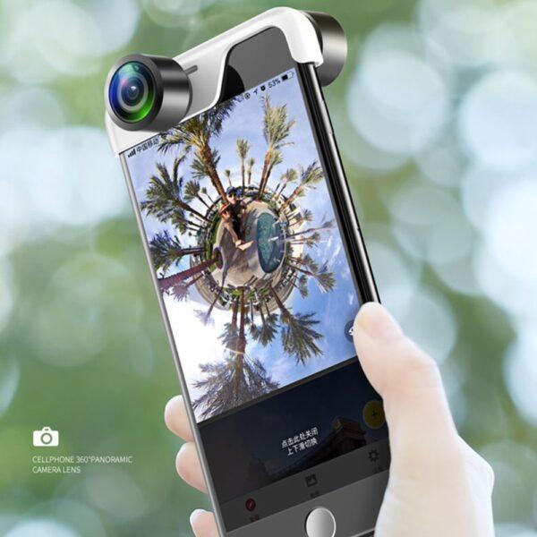 Original 360 Panoramic Camera Lens 2PCS Phone Lens For iPhone 7 X 6 6s Plus 8 4