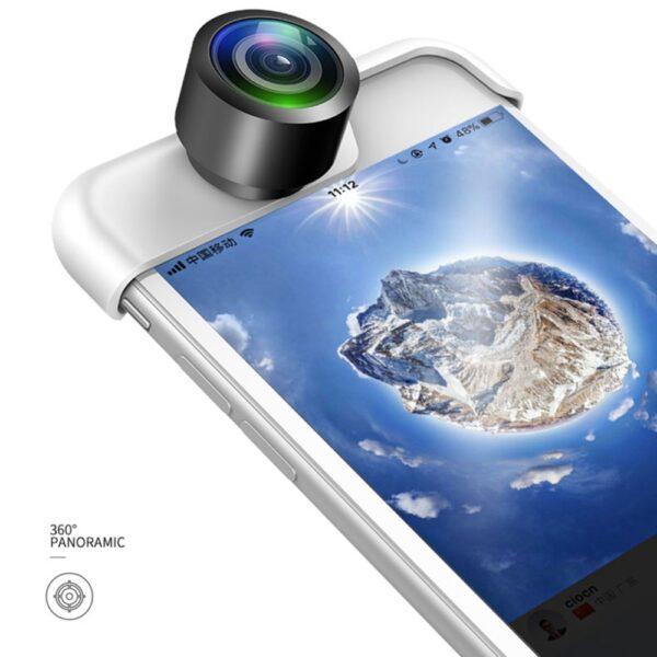 Original 360 Panoramic Camera Lens 2PCS Phone Lens For iPhone 7 X 6 6s Plus 8