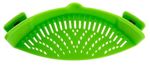 Realand Universal Silicone Clip on Pan Pot Strainer for Anti spill Draining Pasta Noodle Rice