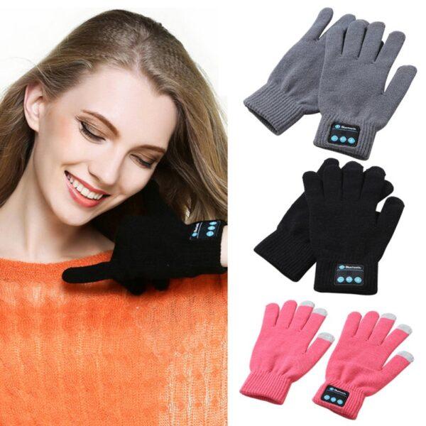 Unisex Bluetooth Gloves Women Men Winter Knit Warm Mittens Call Talking Gloves Mobile Phone Pad 4 1