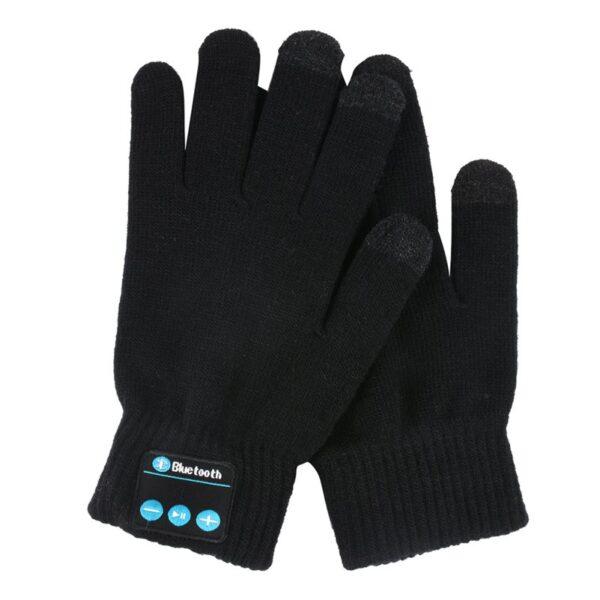 Unisex Bluetooth Gloves Women Men Winter Knit Warm Mittens Call Talking Gloves Mobile Phone Pad 4 4