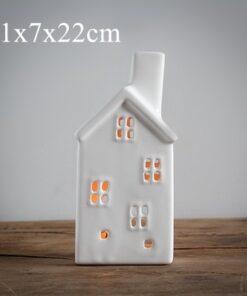 candle holder, Handmade Vintage Porcelain House Candle Holder