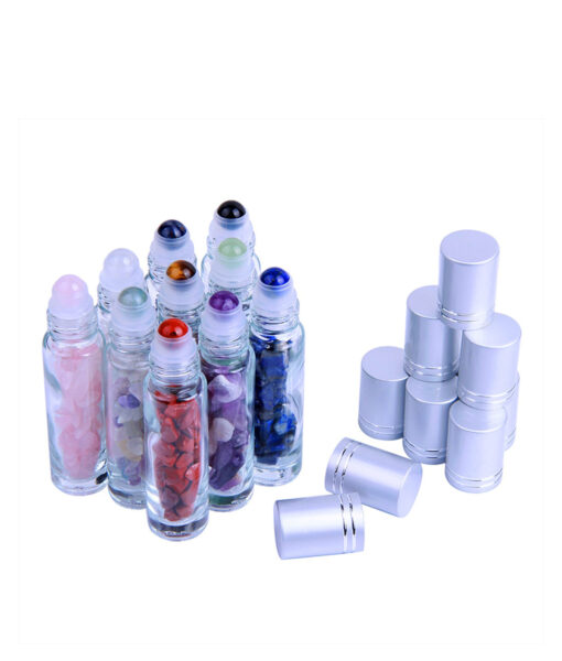 Gemstone Glass Roller Bottles, Gemstone Glass Roller Bottles (10 pcs)