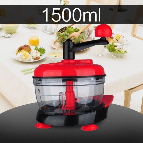 500ml 1 5L High capacity Multi function Kitchen Manual Food Processor Meat Grinder Vegetable Chopper