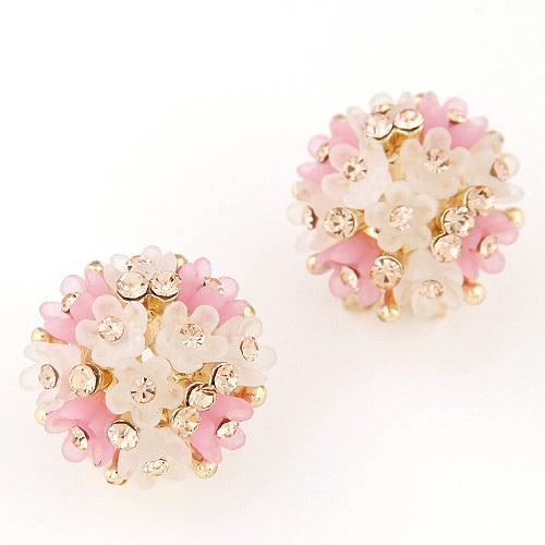 earrings, Women Crystal Flower Earrings