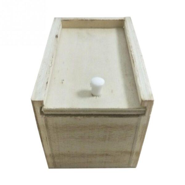 Hot Sale New Surprise Animals Spider Bite in Wooden Box Gag Gift Practical Funny Joke Prank 2