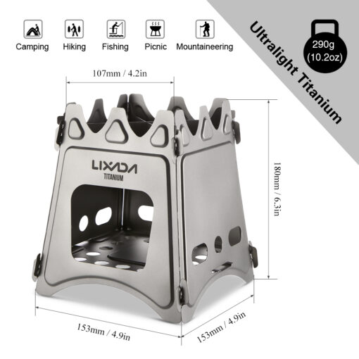 Titanium Wood Burner Stove, Ultralight Titanium Wood Burner Stove