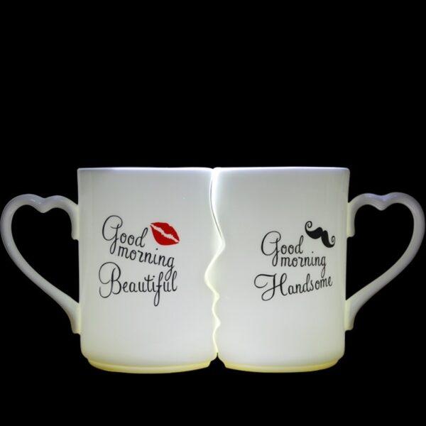 OUSSIRRO 2Pcs Set Couple Cup Ceramic Kiss Mug Valentine s Day Wedding Birthday Gift L2105 3