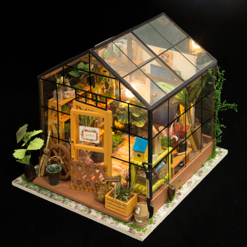 house, Miniature DIY Green Garden House